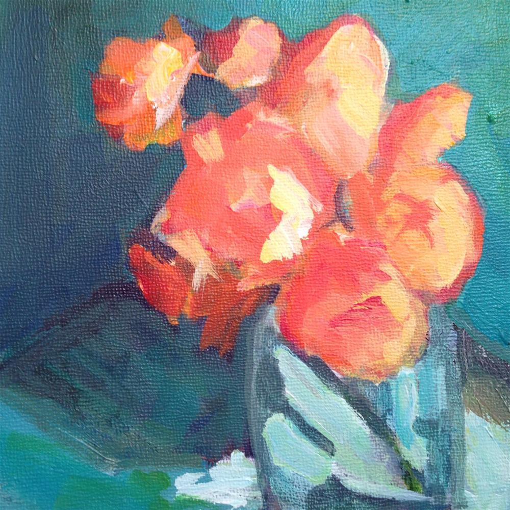 """Georgie's Flowers"" original fine art by Beth Carrington Brown"