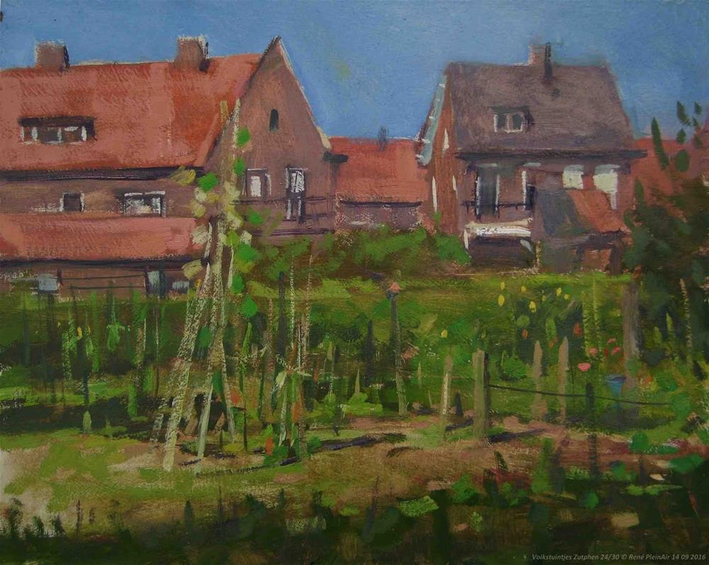 """Allotments Zutphen, The Netherlands"" original fine art by René PleinAir"