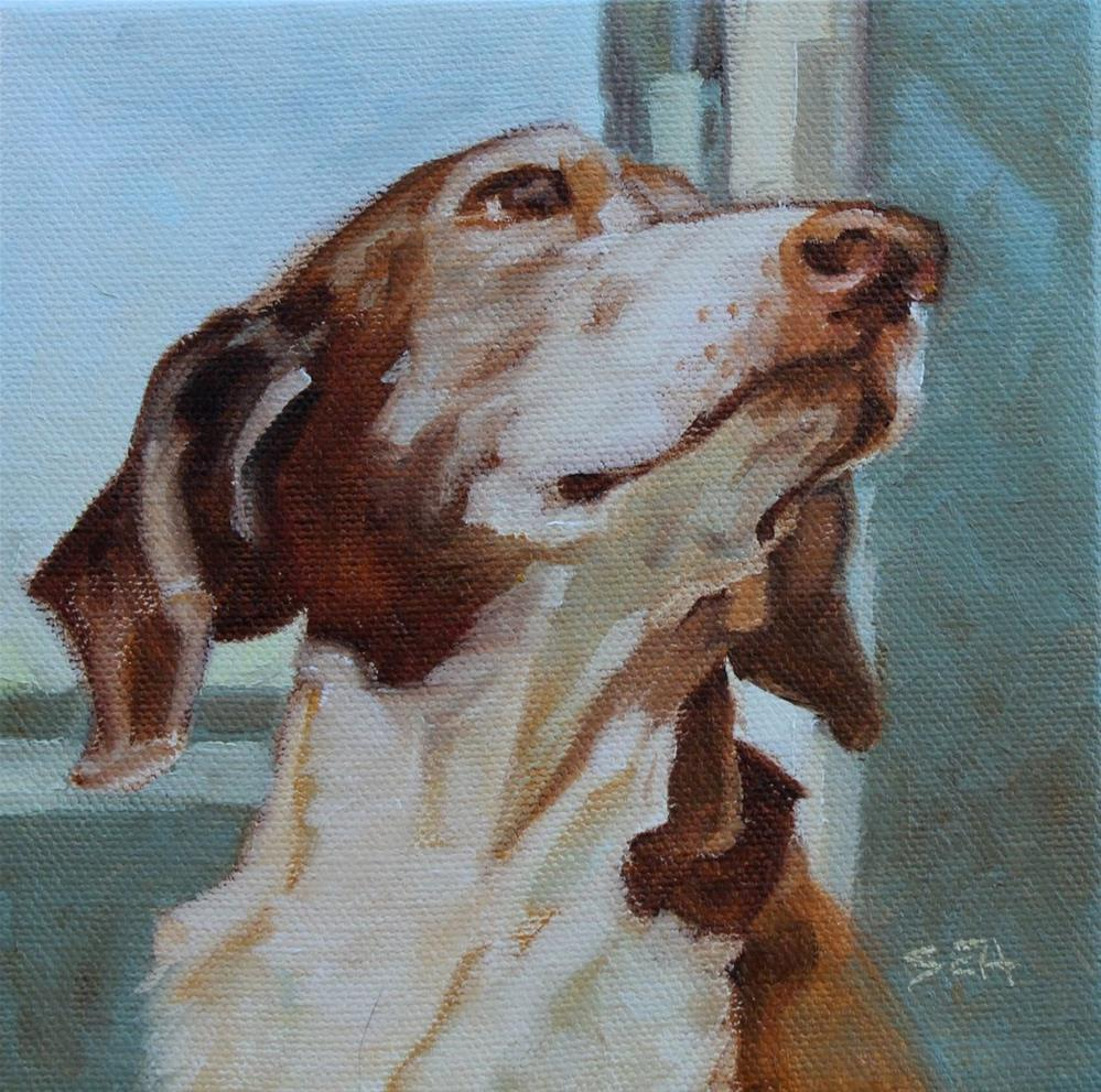 """May I please?"" original fine art by Susan Ashmore"