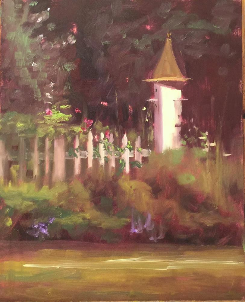 """The Cottage Garden, 8 x 10"" original fine art by Ann Feldman"