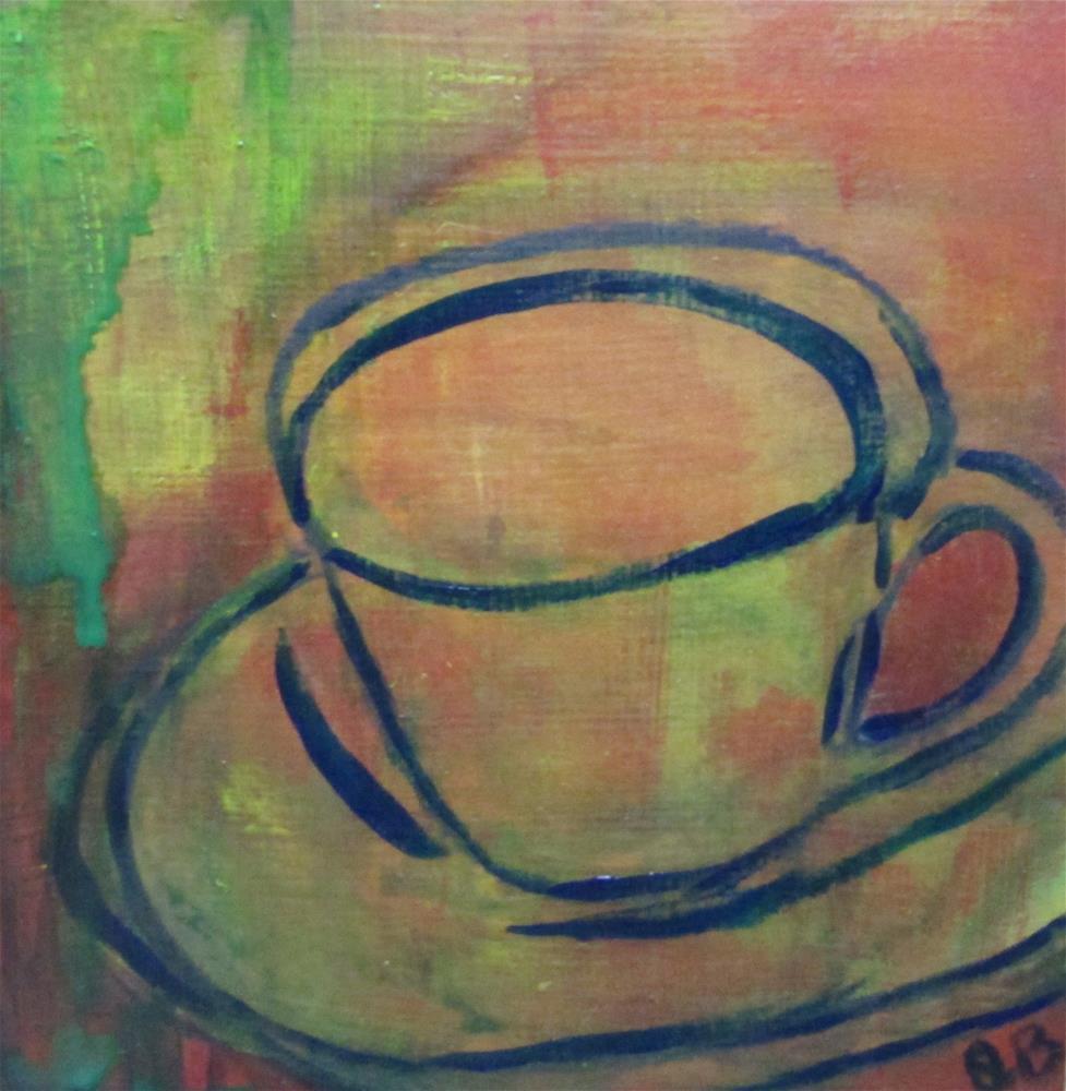 """Tea cup fun"" original fine art by Janine Blackburn"