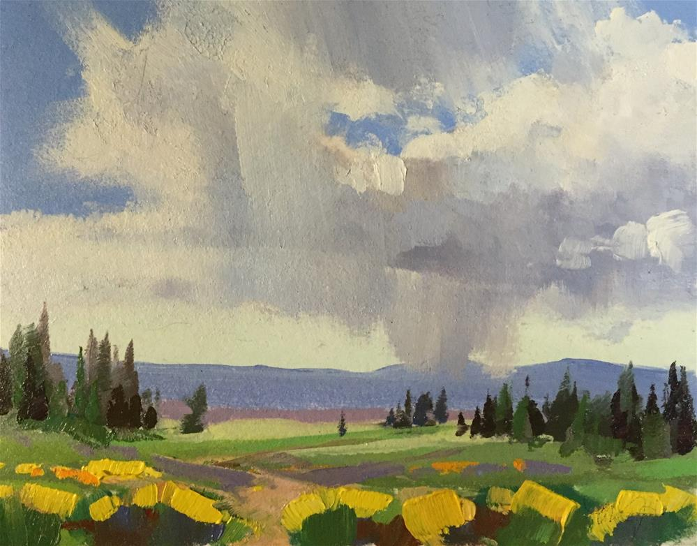 """Cedar Breaks - Spring Flowers 8"" original fine art by Mary Jabens"