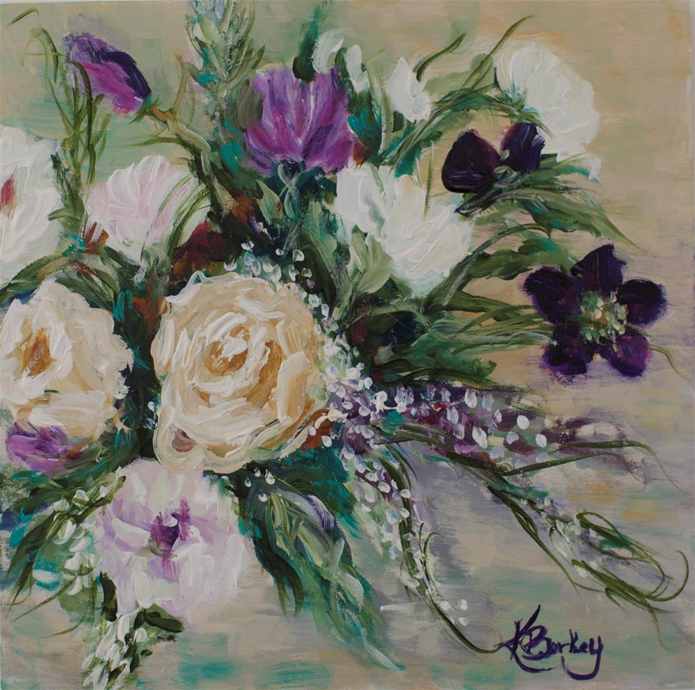 """Victorian Gardens 1"" original fine art by Kelly Berkey"