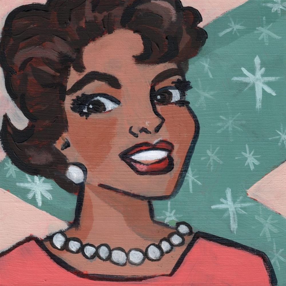 """Donna Reed Forever (#360)"" original fine art by Debbie Miller"