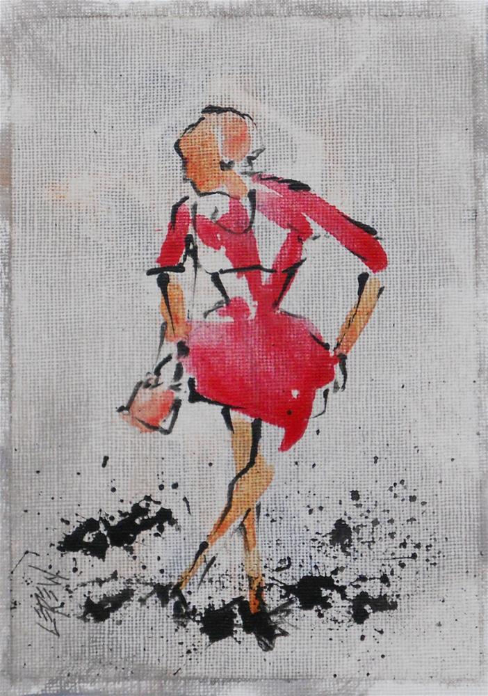 """Serendipity Blot Figure Sketch #13-08-09"" original fine art by Larry Lerew"