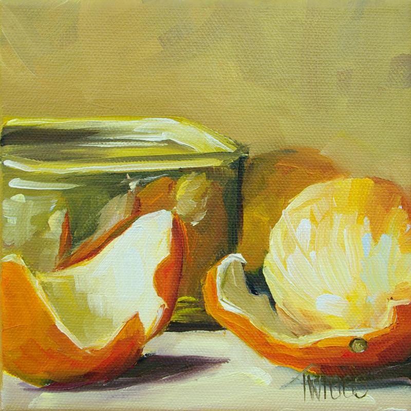 """Orange & Gold Tin"" original fine art by Lori Twiggs"