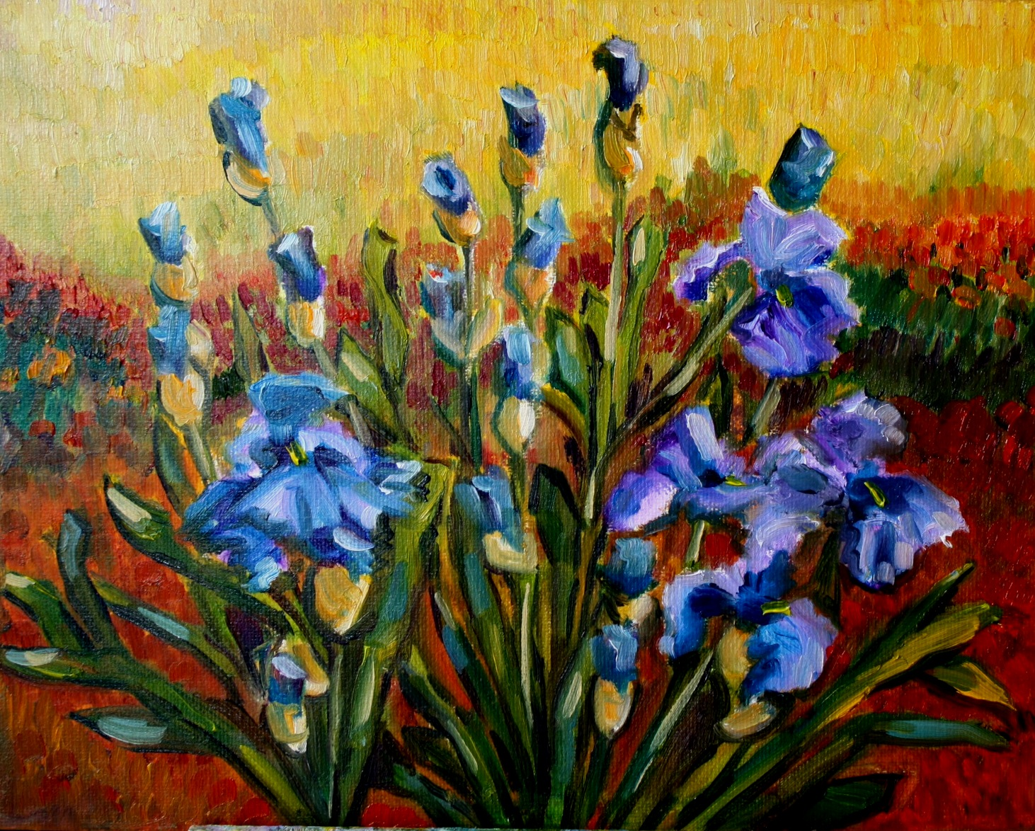 """Iris Vincent"" original fine art by Maggie Flatley"