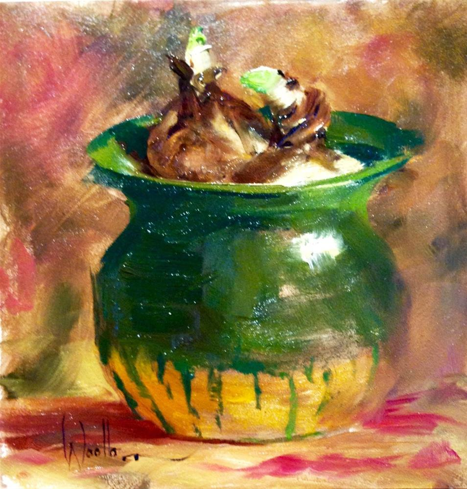 """Spring Bulbs"" original fine art by Dorothy Woolbright"
