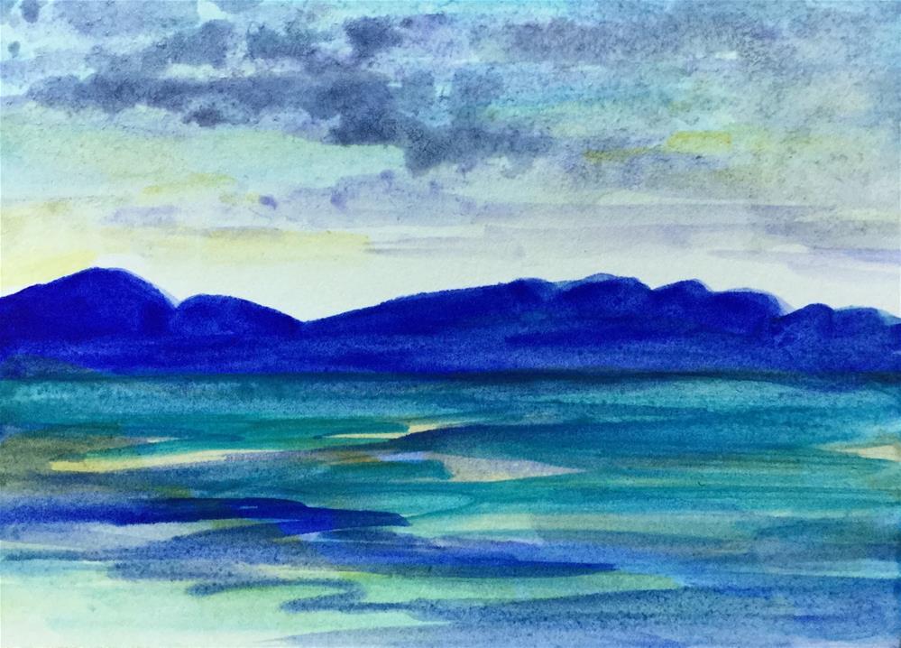 """""""6080 - OKANAGAN MOUNTAINS ACEO"""" original fine art by Sea Dean"""