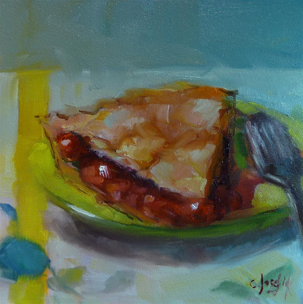 """Cherry Pie #2"" original fine art by Carol Josefiak"
