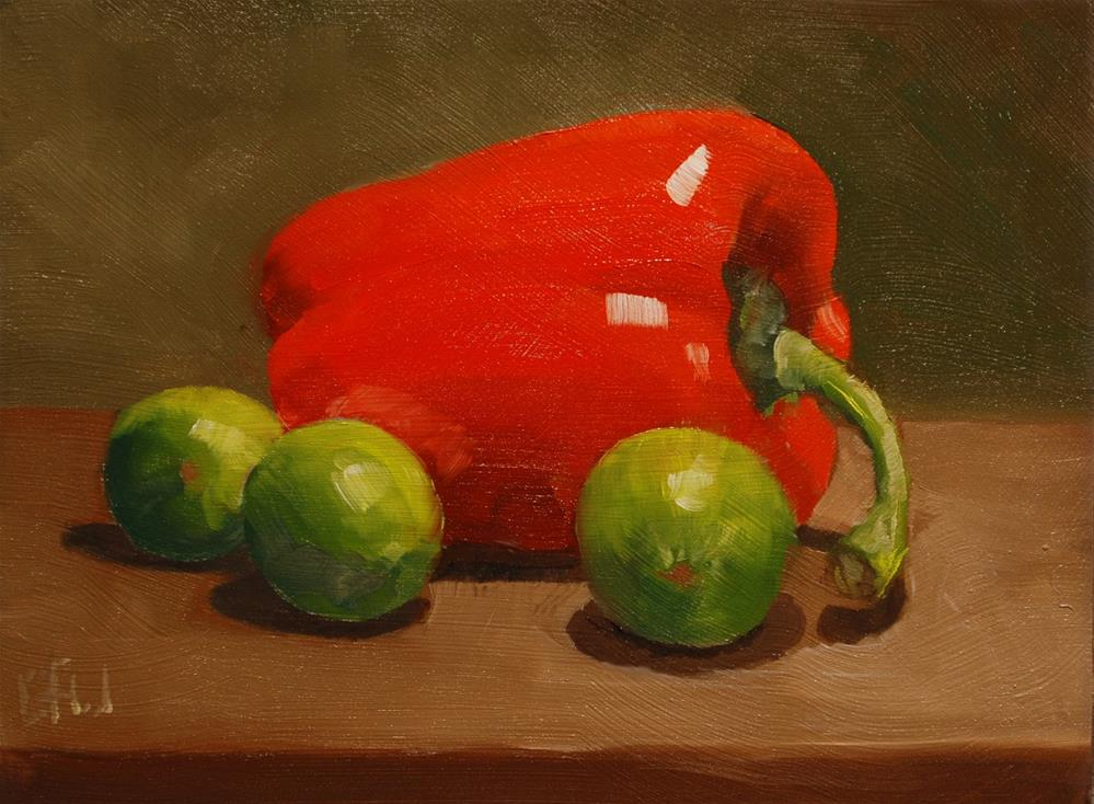 """Red Pepper and Limes"" original fine art by Gary Westlake"