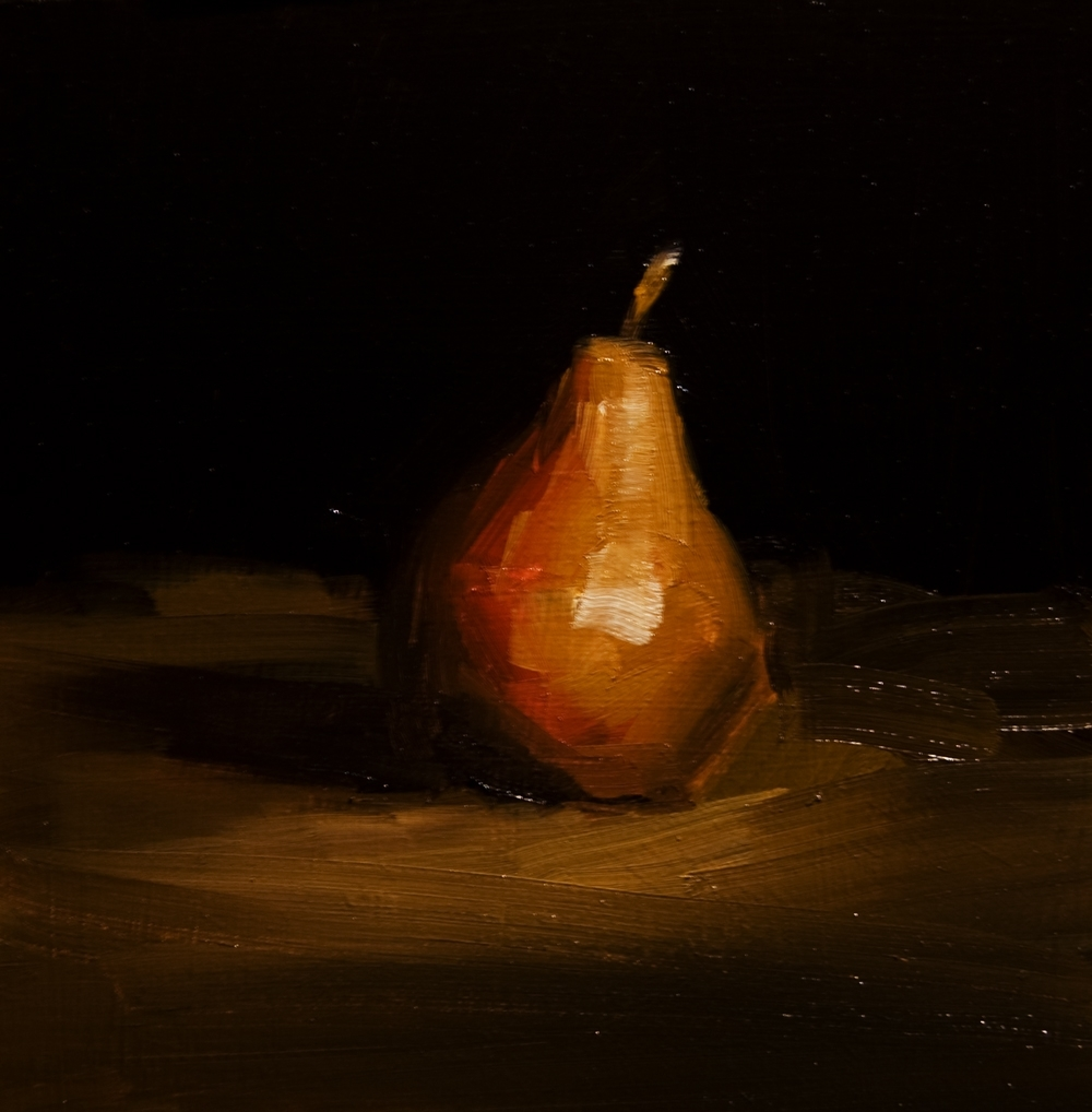 """Pear No.1"" original fine art by Neil Carroll"