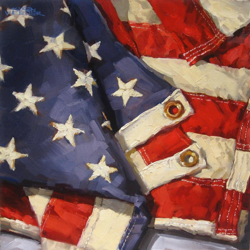 """Stars & Stripes"" original fine art by Karen Werner"