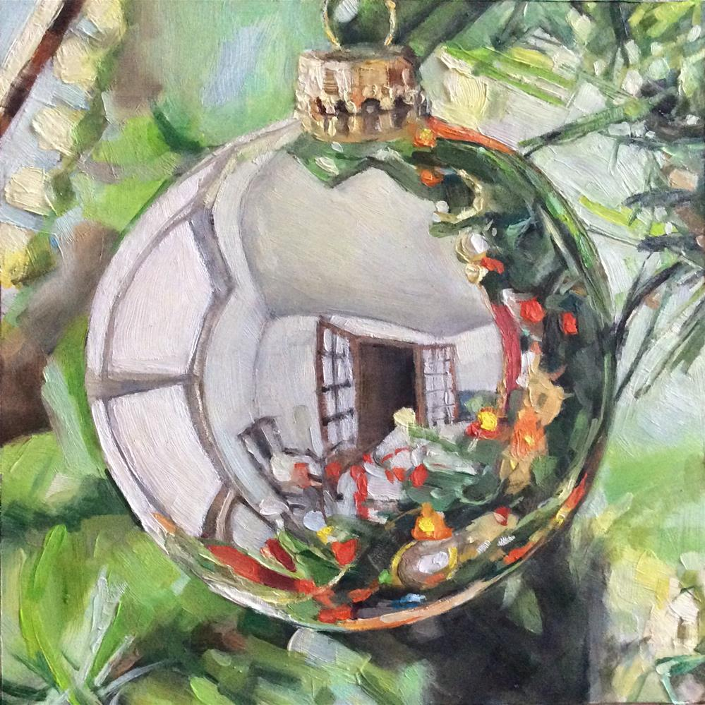 """A Christmas Bauble"" original fine art by Paula Howson-Green"