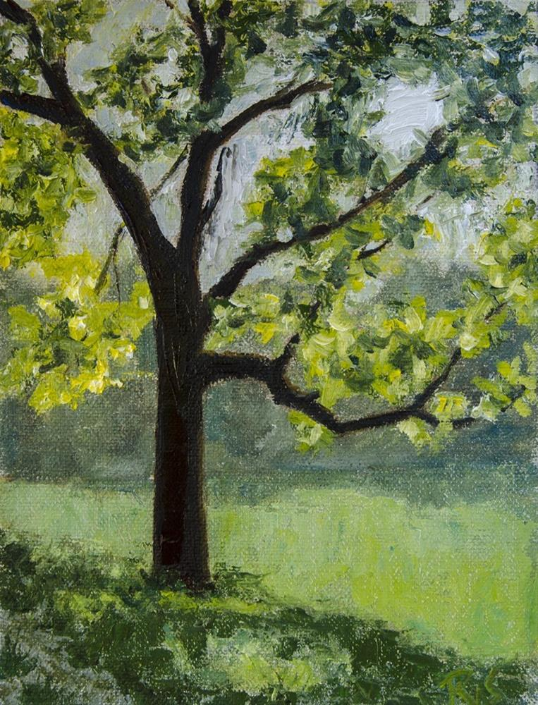 """Aldeen Park 2016"" original fine art by Rachel Steely"