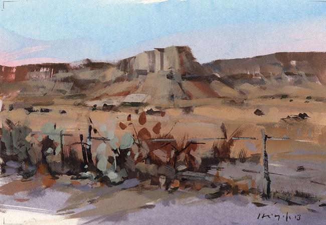 """West Texas - Quick Study"" original fine art by David Lloyd"