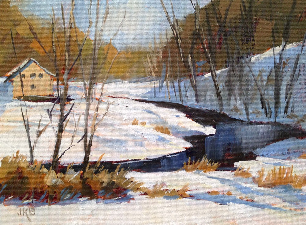 """Where the River Bends"" original fine art by Jeanne Bruneau"