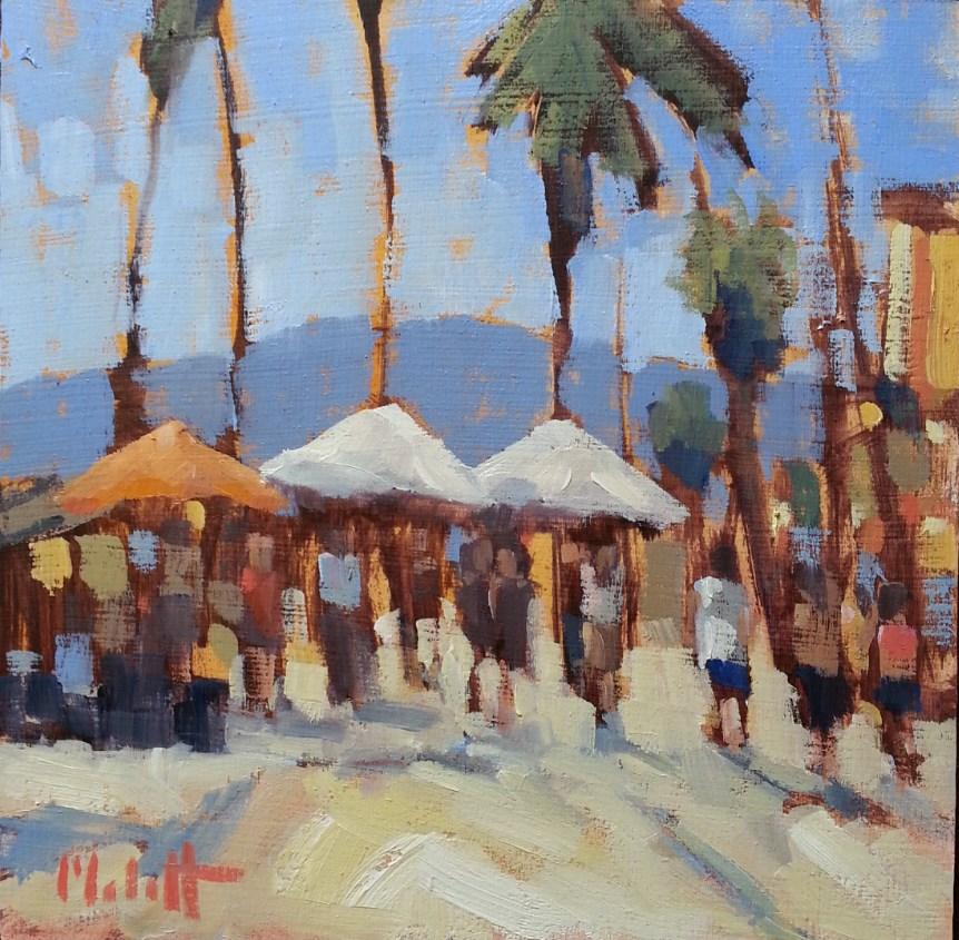 """Sunny California Contemporary Impressionism 8x8 Heidi Malott"" original fine art by Heidi Malott"