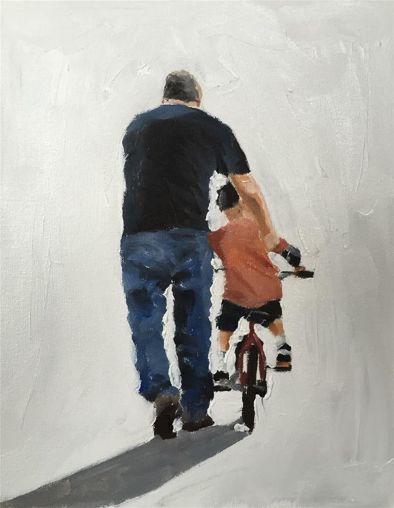 """Learning to Ride"" original fine art by James Coates"