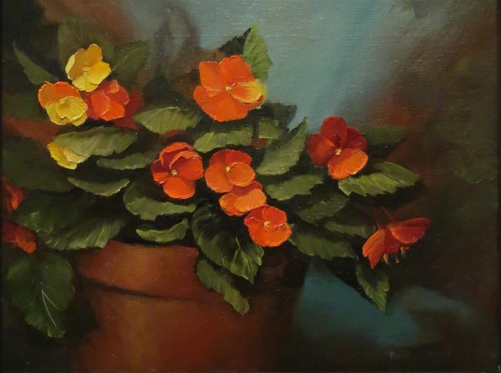 """Begonias"" original fine art by Rose Zdrazil"