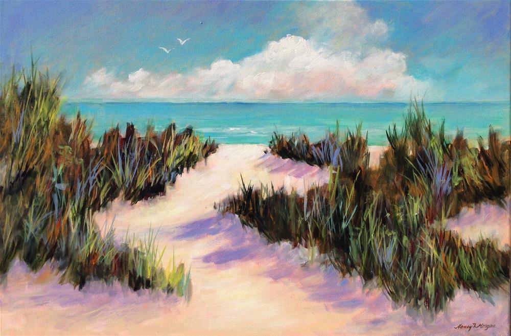"""Sea Grass"" original fine art by Nancy F. Morgan"
