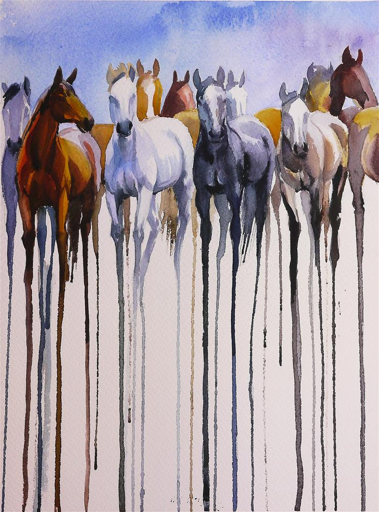 """herd_4"" original fine art by Beata Musial-Tomaszewska"