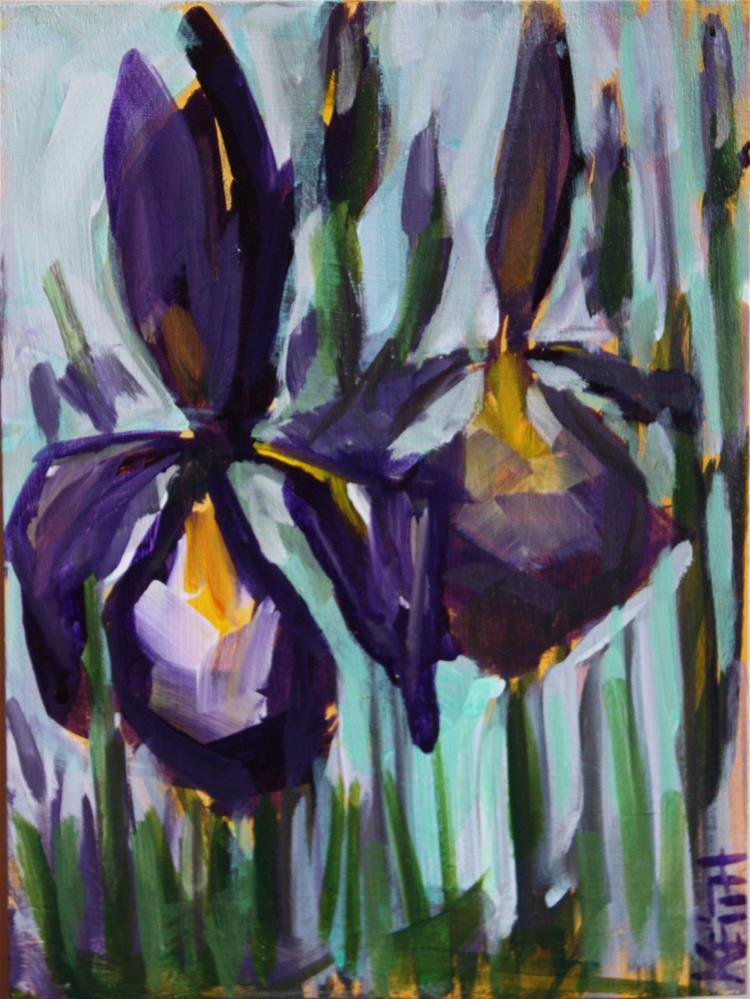 """Iris Inspiration No 4"" original fine art by Kandice Keith"