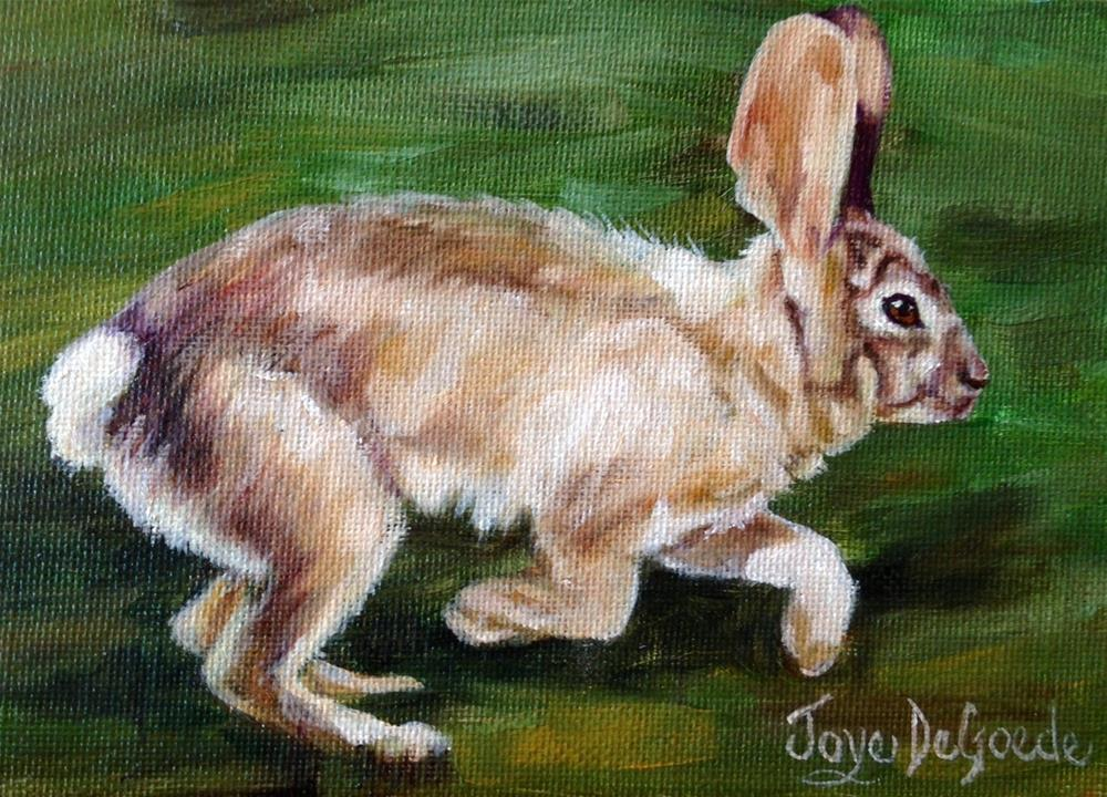 """Quick Like A Bunny (c) by Joye DeGoede"" original fine art by Joye DeGoede"