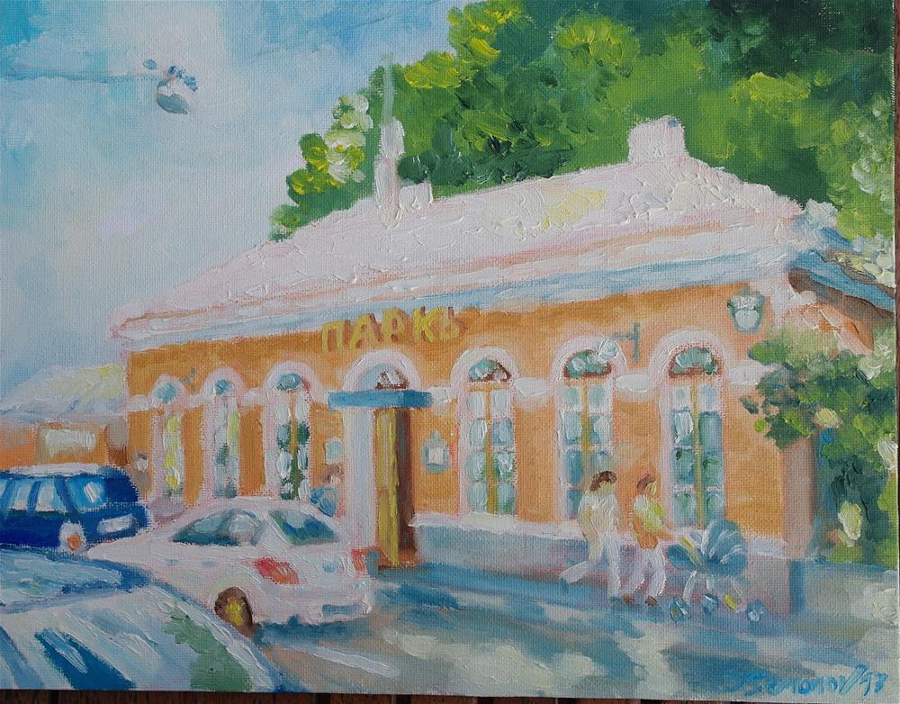 """sunny day in St.Petersburg"" original fine art by Yuriy Semyonov"