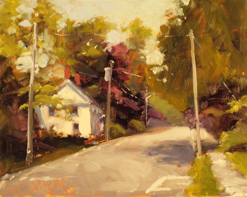 """up the road apiece"" original fine art by Dan Graziano"