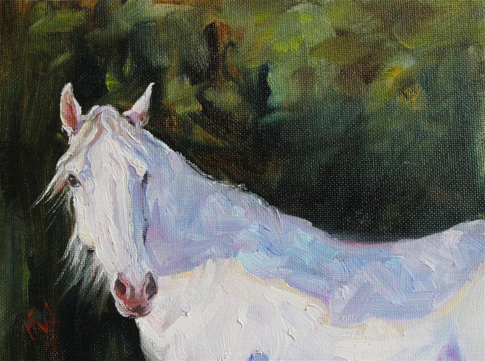 """""""White Beauty"""" original fine art by H.F. Wallen"""