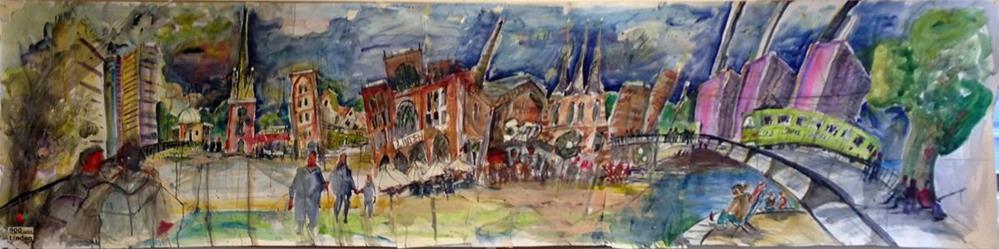 """1223 Painting Linden"" original fine art by Dietmar Stiller"