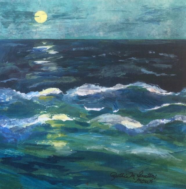 """""""Moonlit Sail"""" original fine art by Ruthie Sexton"""