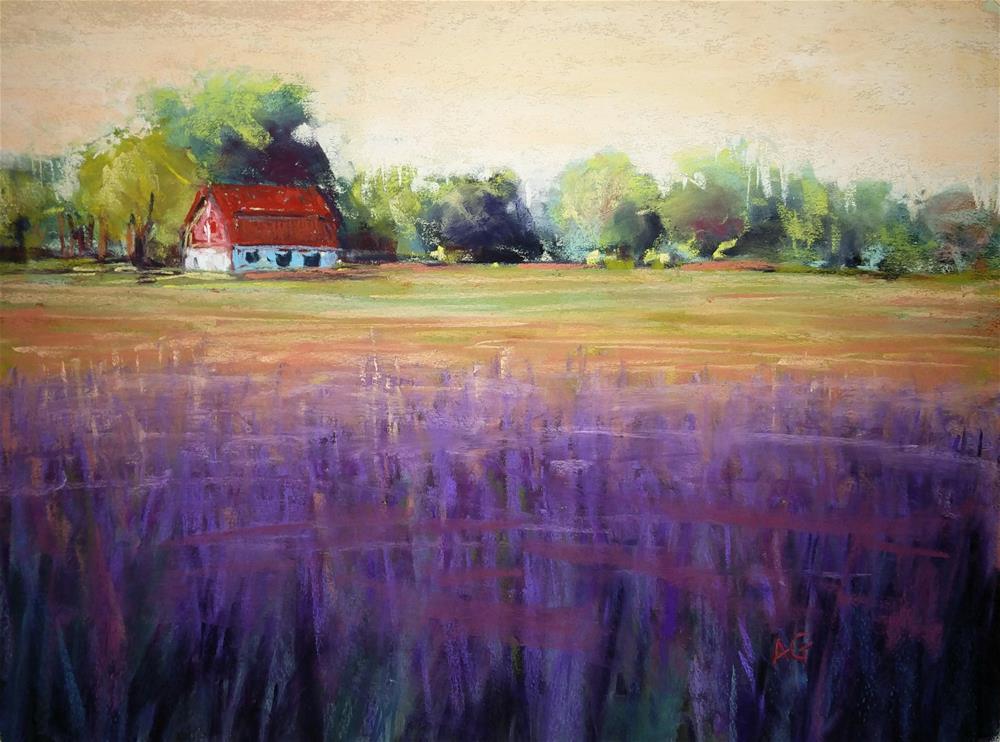 """Purple patch"" original fine art by Alejandra Gos"