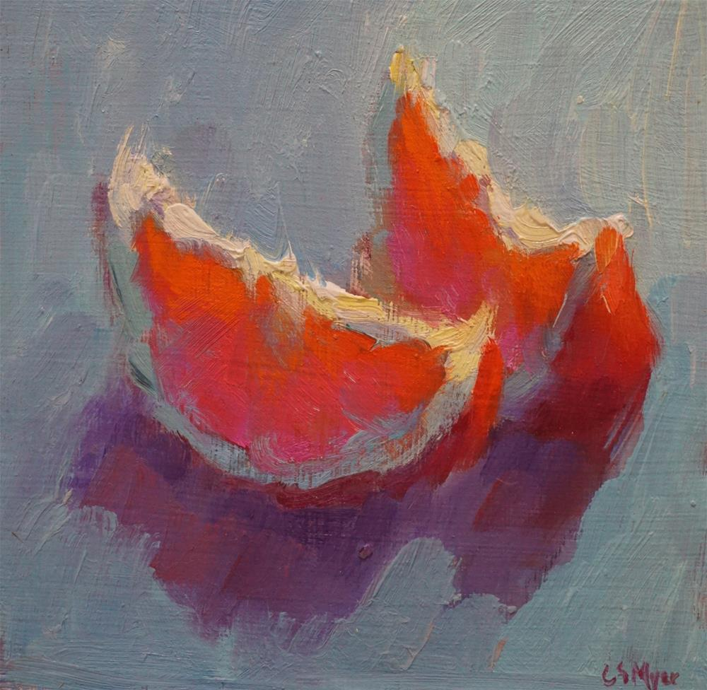 """Orange Slices"" original fine art by Carol Myer"