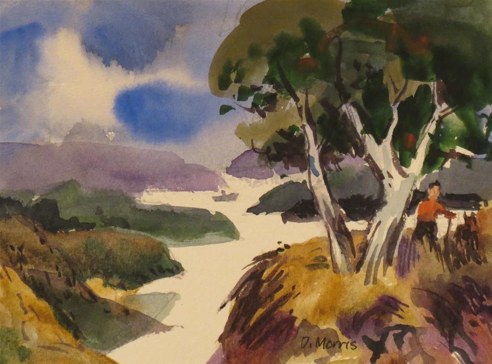 """Grassy Bluff"" original fine art by Dann Morris"