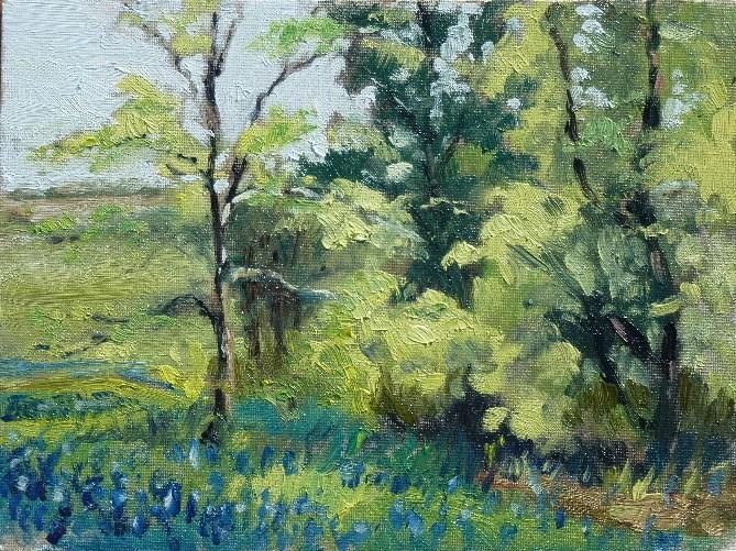 """Ennis Bluebonnets"" original fine art by Maren Phillips"