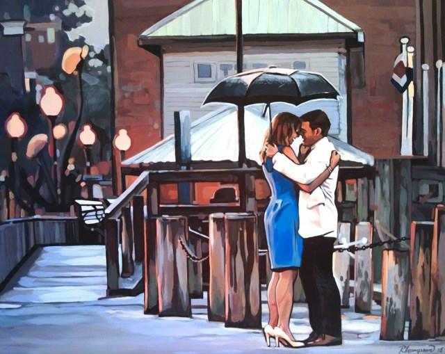 """The Proposal"" original fine art by Rachel Thompson"