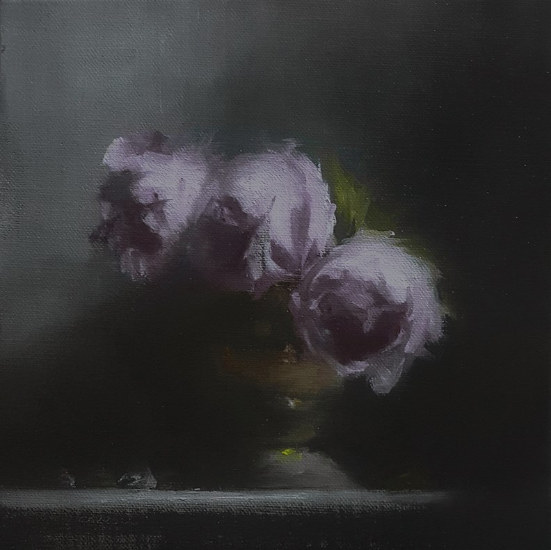 """Three Peonies"" original fine art by Neil Carroll"