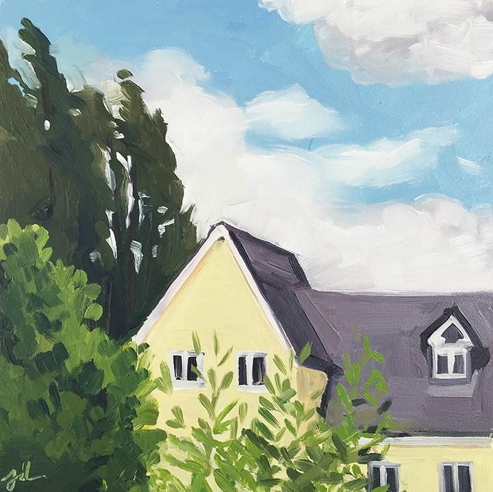 """English Sky"" original fine art by Jessie Dodington"