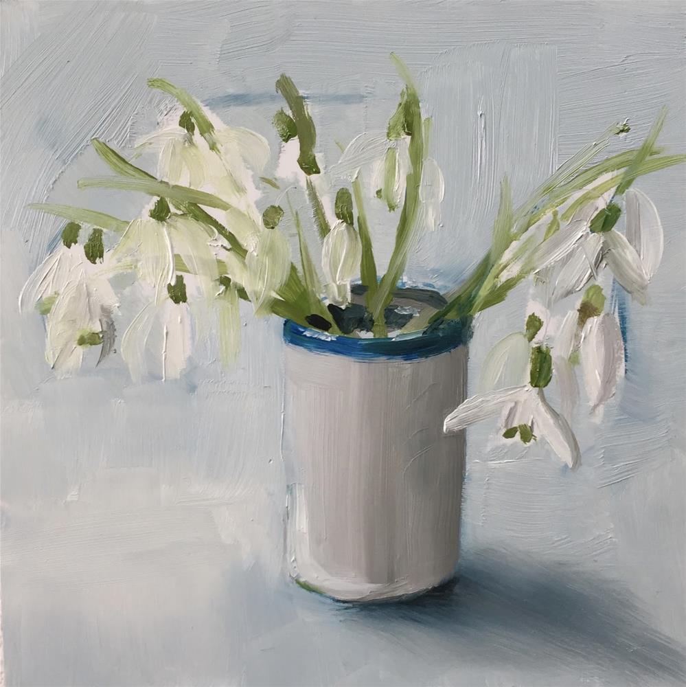 """""""Snowdrops"""" original fine art by Philine van der Vegte"""