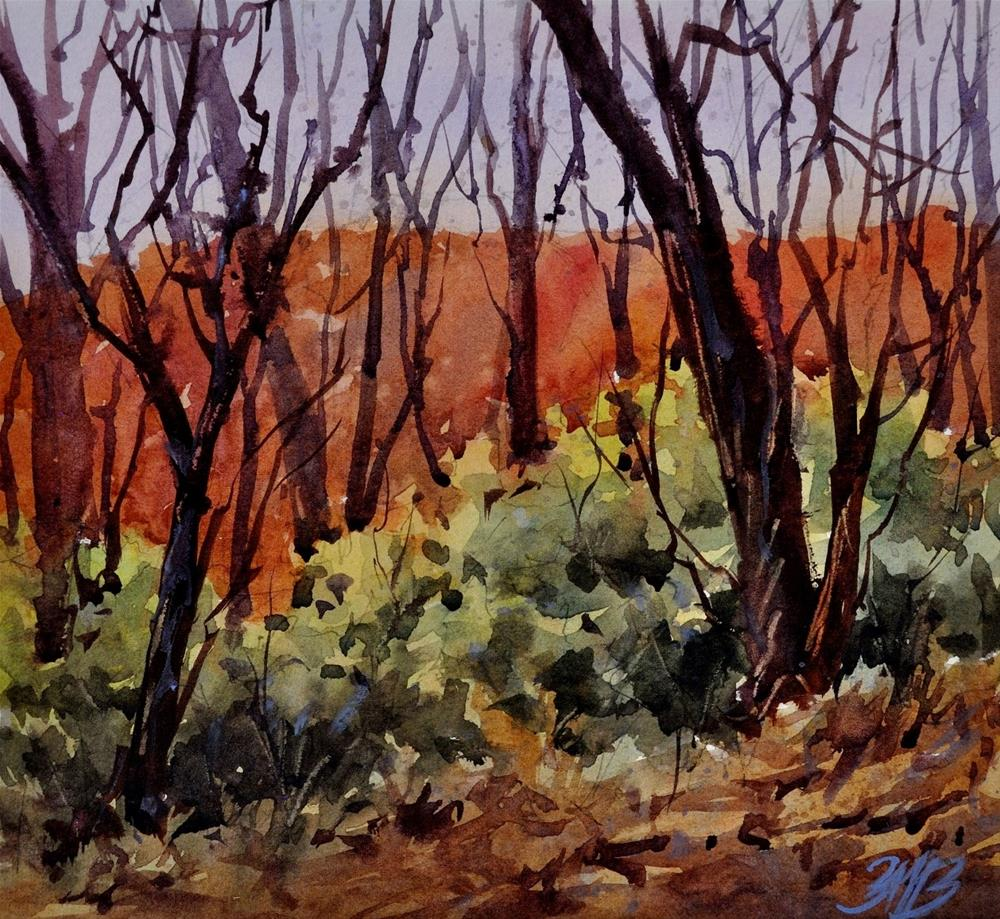"""Late Autumn Evening"" original fine art by Brienne M Brown"