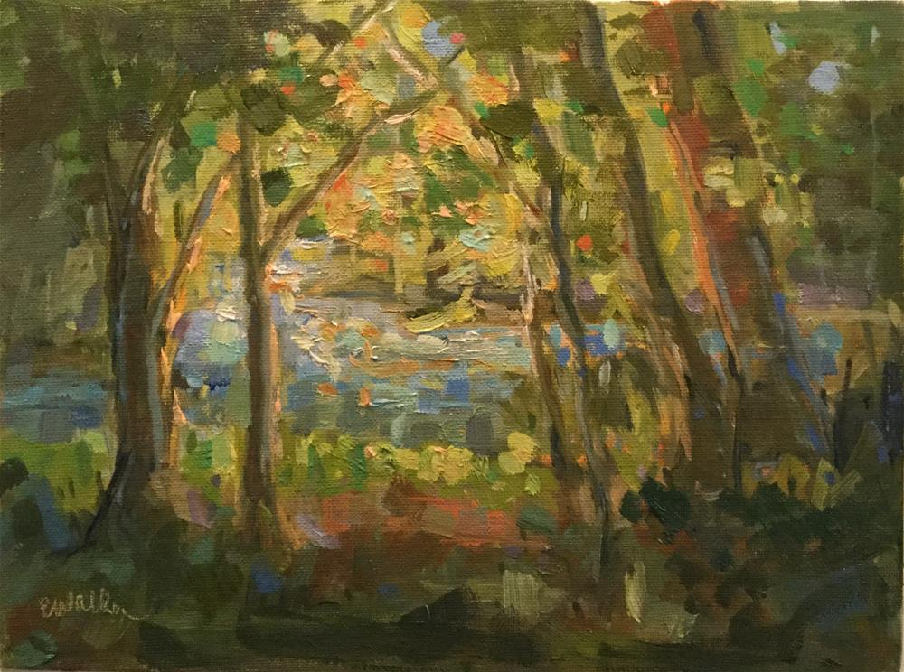 """Creekside"" original fine art by Barb Walker"
