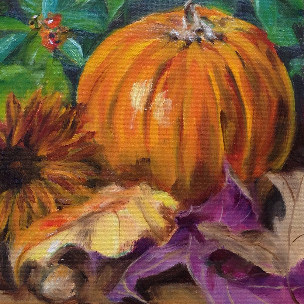 """Fall Things"" original fine art by Linda Lowery"