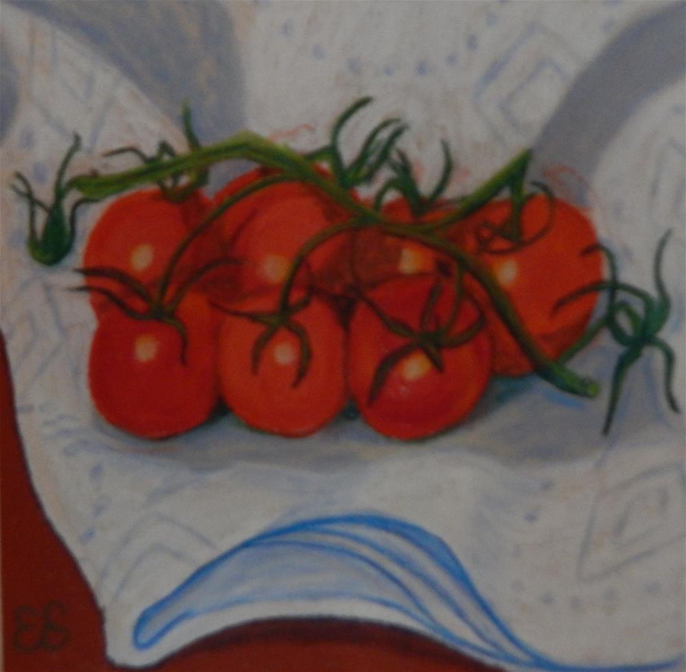 """Freshly-Washed Cherry Tomatoes"" original fine art by Elaine Shortall"