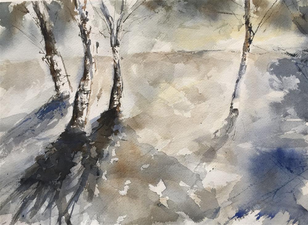 """""""GREY FOREST"""" original fine art by Ferran Llagostera"""