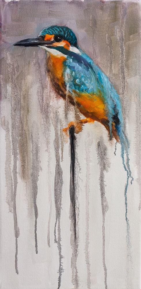 """Indian Kingfisher"" original fine art by Clair Hartmann"
