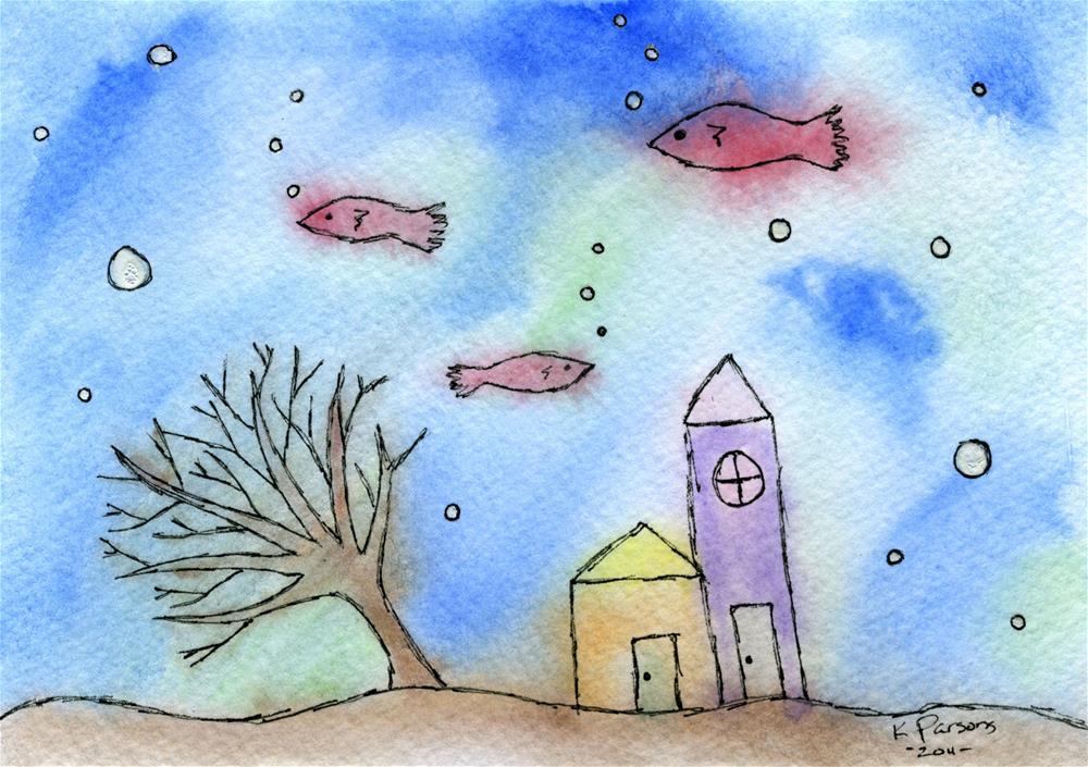 """Hood Under the Sea"" original fine art by Kali Parsons"