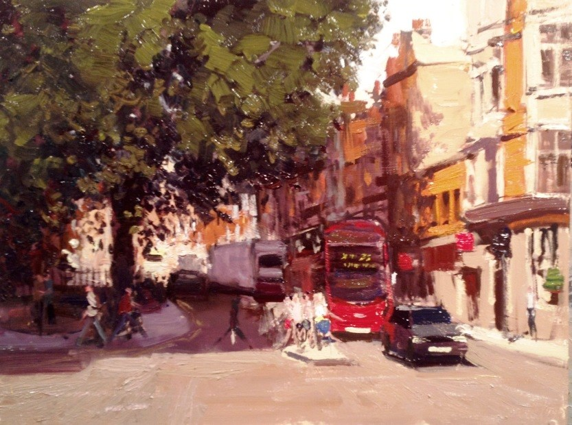 """Summerlight Kessington Church Street III"" original fine art by Adebanji Alade"