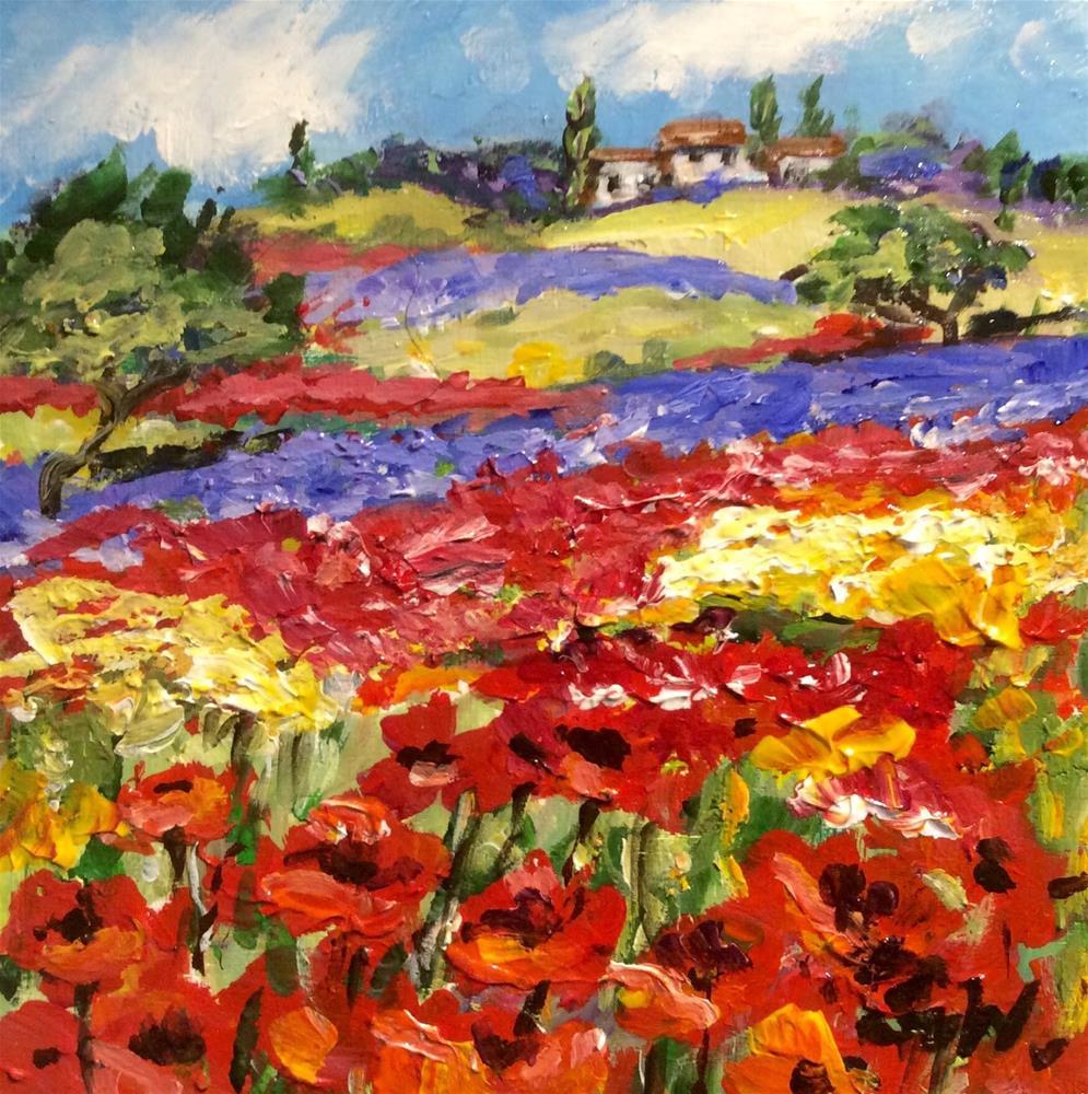 """""""Provence flowers"""" original fine art by Sonia von Walter"""